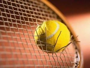 Balle tennis raquette