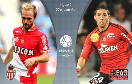 Ligue 2 : Monaco - Guingamp