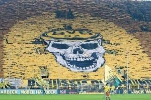 Le mur jaune de Dortmund