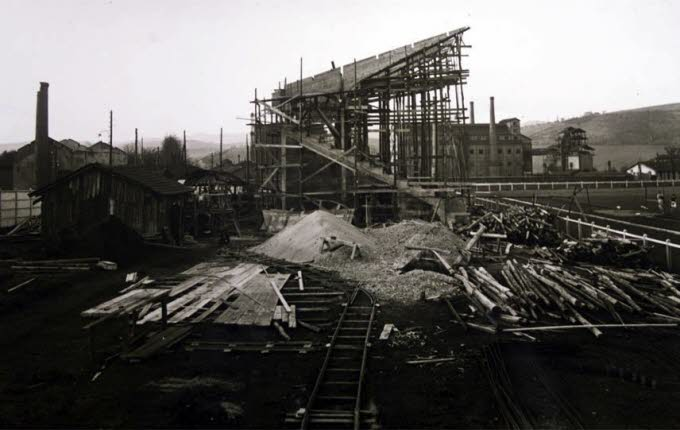 Construction du stade en 1924