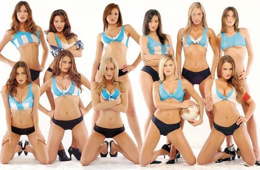 équipe de foot féminine sexy