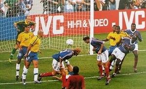 Zinedine Zidane face au Brésil