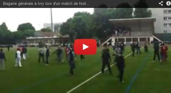 Bagarre eb football au Val de Marne