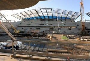 La tribune officielle du stade Océane