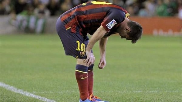 Messi absent 2 mois