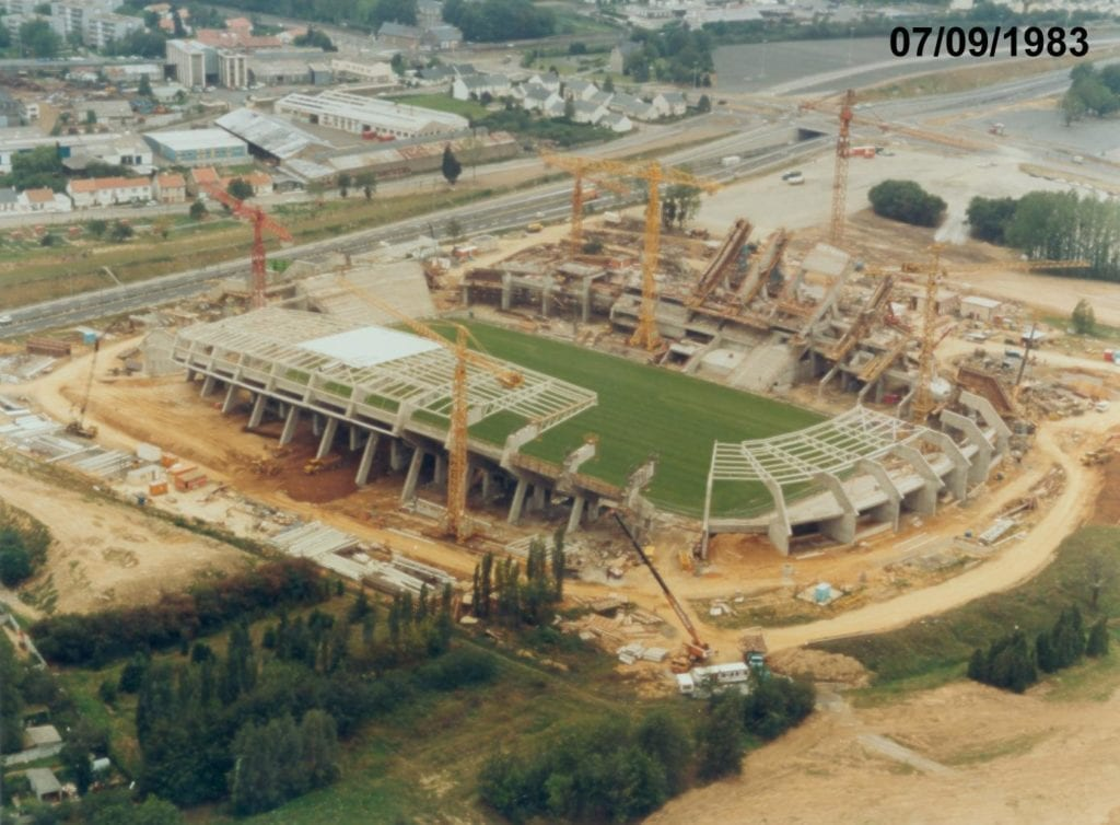 Construction du stade de la Beaujoire