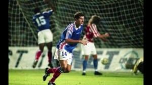 1994 17 aout Première selction zidane