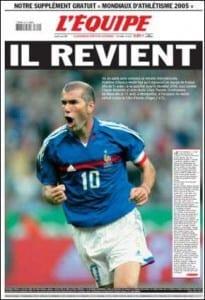 2005 Retour Zidane 2005