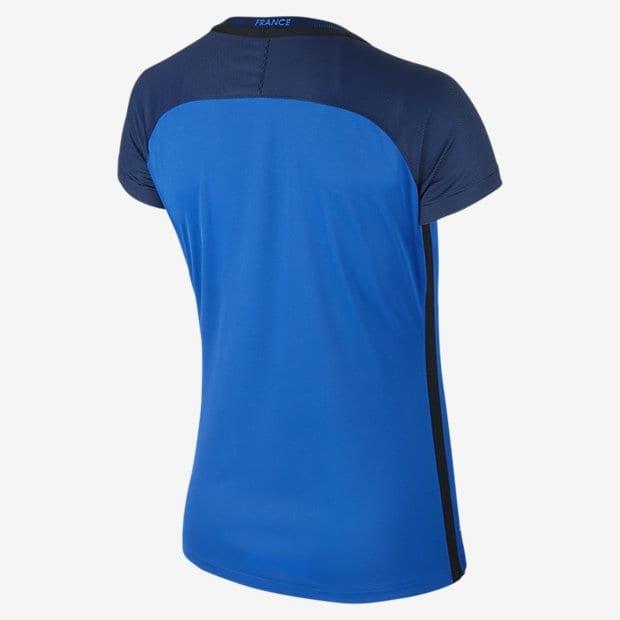 Le dos du maillot bleu de l'équipe de France