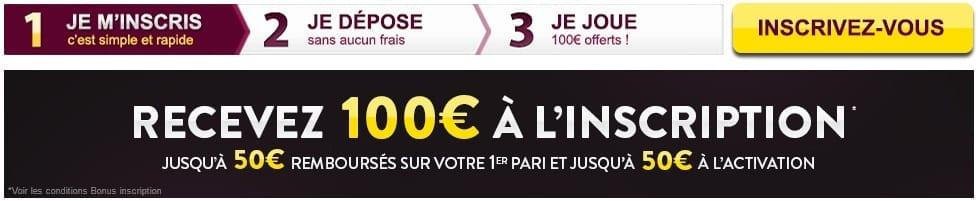 Bonus Feelingbet : 100€ offerts !