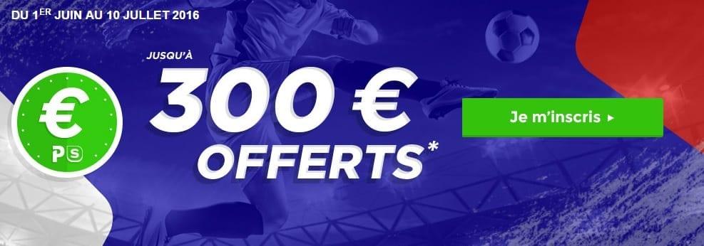 Bonus 300€ Parions Sport en Ligne