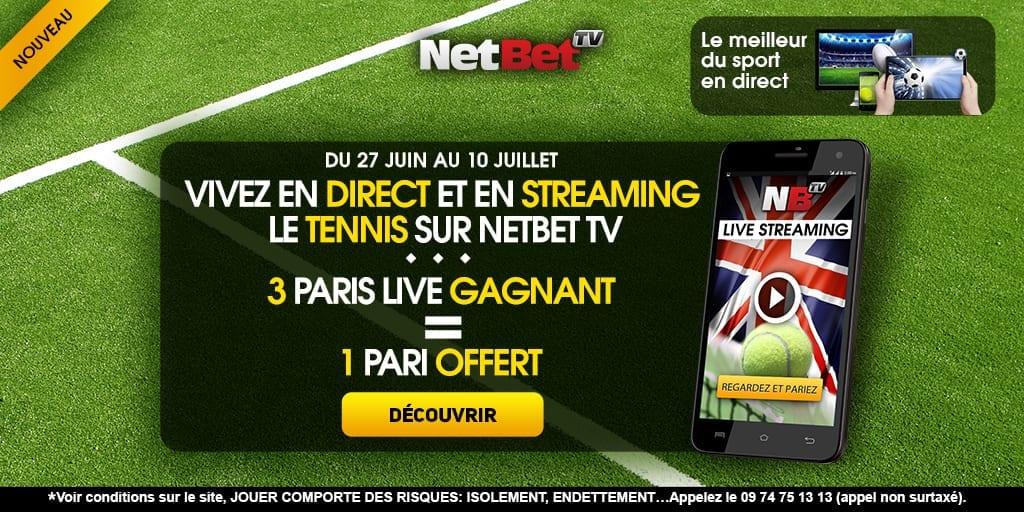 Promotion Netbet pour Wimbledon