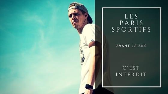 Paris Sportifs avant 18 ans : c'est interdit !