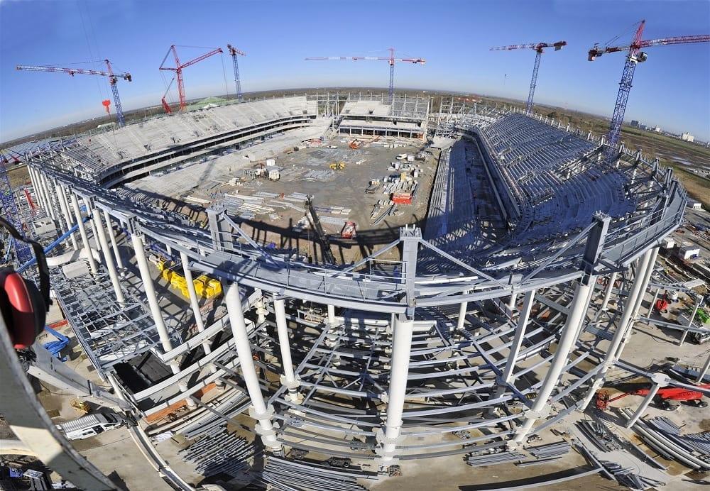 Le Stade Matmut Atlantique en Construction