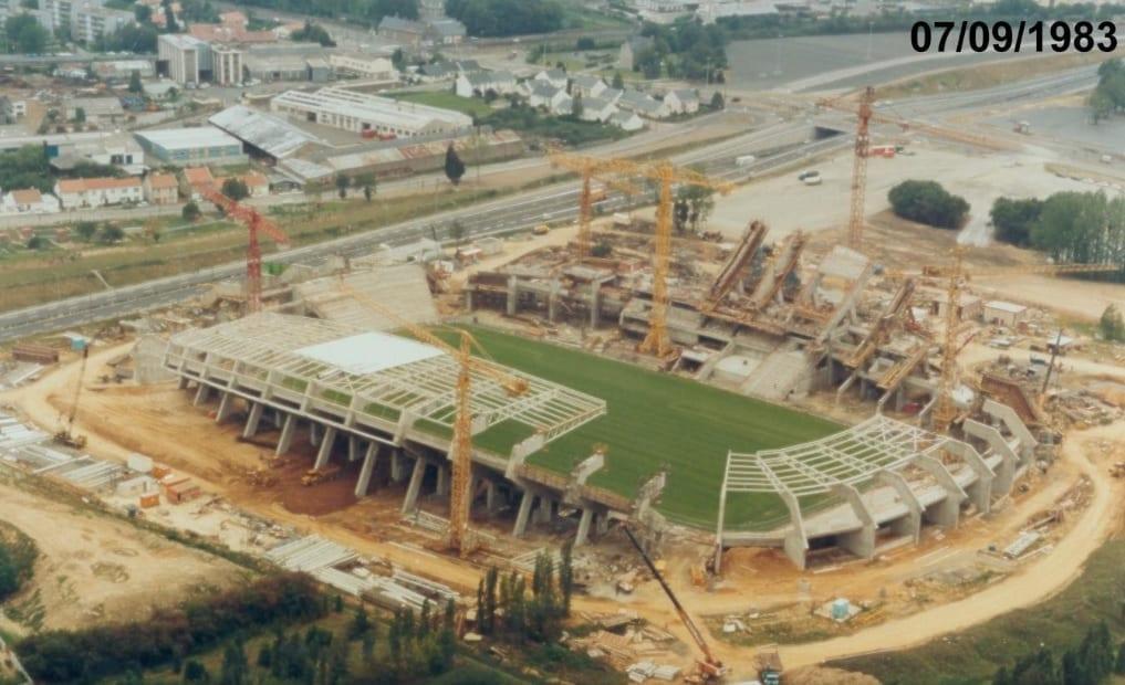 Construction du Stade Malherbe de Caen