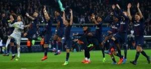 Célébration PSG - victoire