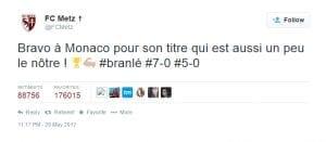 Tweet FC Metz
