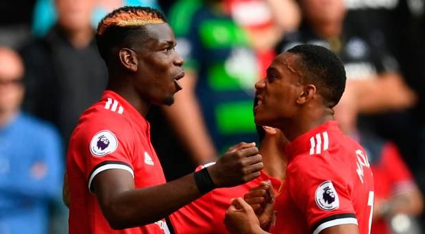 martial et Pogba : joueurs de united