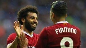 Salah et firmino, attaquants Liverpool