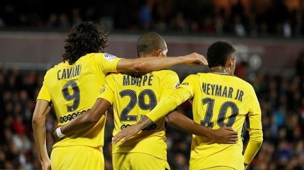 Neymar Cavani Mbappé