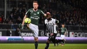 Robert Beric, buteur face à Angers le 17 février 2018