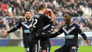 Des bordelais heureux après la victoire contre Lyon