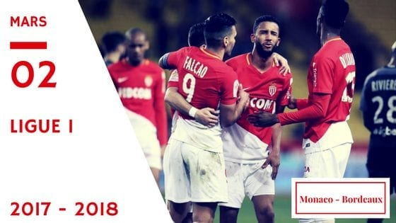 pronostic monaco bordeaux ligue 1 2017 2018