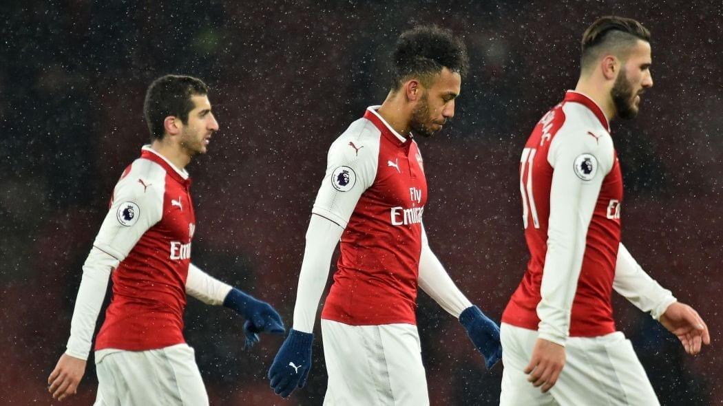 La déception d'Arsenal en février 2018