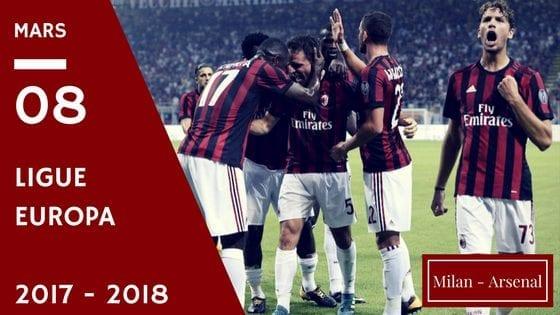 Pronostic Milan AC - Arsenal Ligue Europa 8 mars 2018