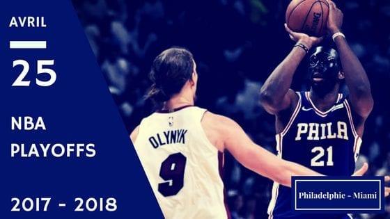 76ers Philadelphie Miami Heat NBA Playoffs Game 5 2017 2018
