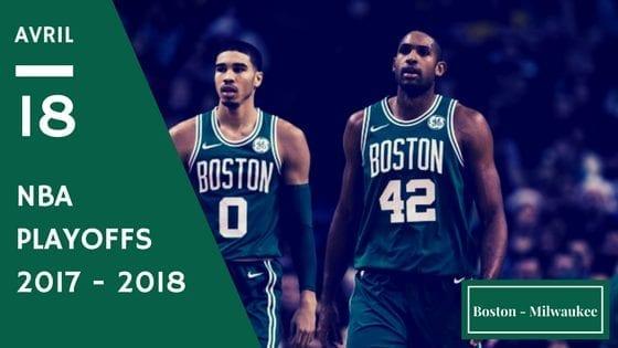 Boston Celtics Milwaukee Bucks NBA Playoffs Game 1 2017 2018