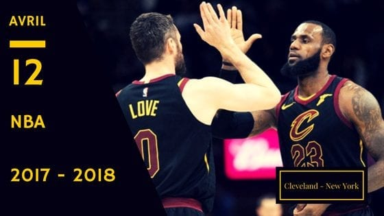 Cavaliers Cleveland New York Knicks NBA 2018