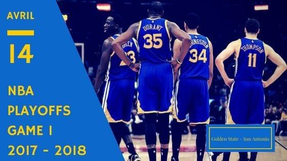 Golden State Warriors San Antonio Spurs NBA Playoffs Game 1 2017 2018