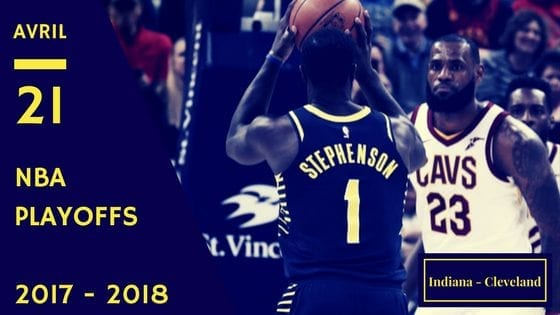 Indiana Pacers Cavaliers Cleveland NBA Playoffs Game 3 2017 2018