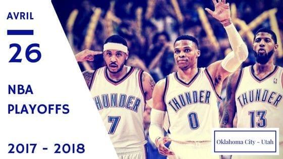 Oklahoma City Thunder Utah Jazz NBA Playoffs Game 5 2017 2018