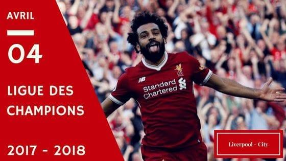 pronos liverpool - city en Ligue des Champions 2017/2018