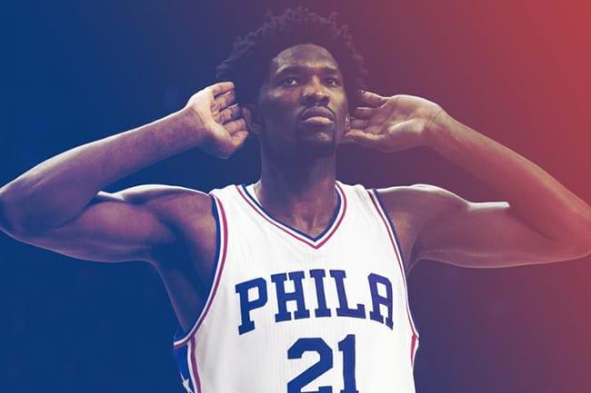 Joel Embiid Philadelphie 76ers NBA 2018