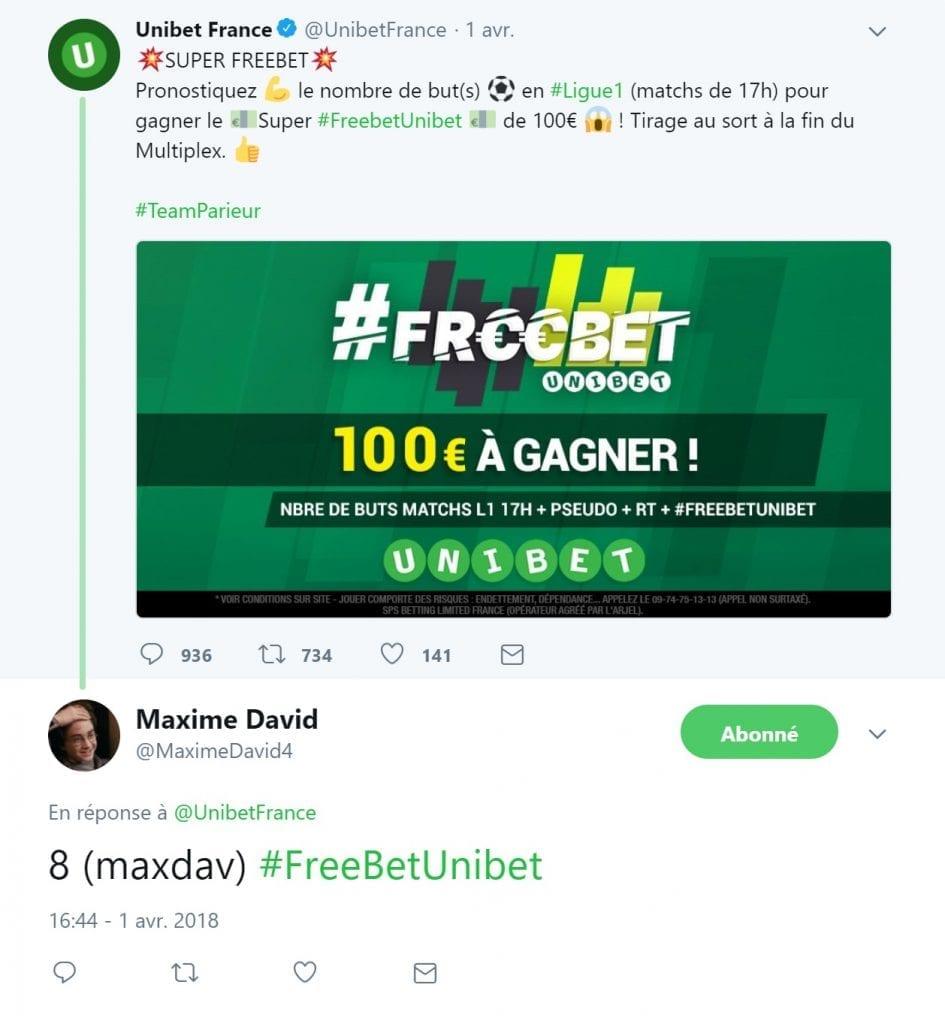 Freebet Unibet