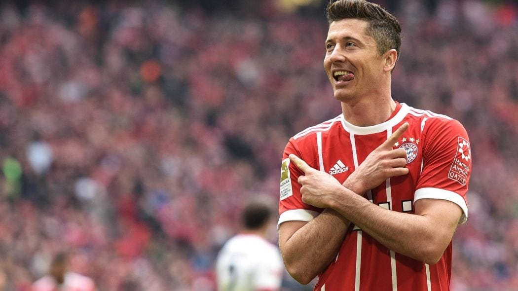 Lewandowski Bayern Ligue des Champions 2017 - 2018
