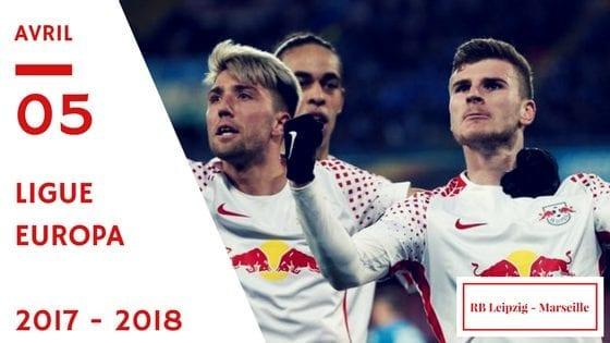 Pronostic RB Leipzig - Marseille Ligue Europa 2017-2018