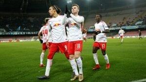 RB Leipzig après leur qualification face à Naples Ligue Europa 2017-2018