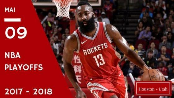 Affiche pronostic game 5 Houston - Utah nba playoff