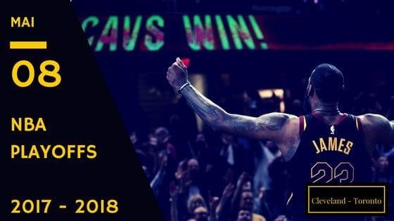Cavaliers Cleveland Raptors Toronto game 4 NBA Playoffs 2017 2018