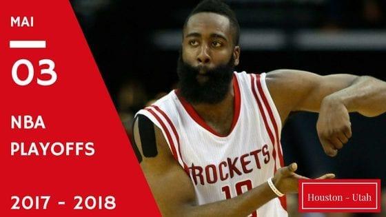 Houston Rockets Utah Jazz NBA Playoffs game 2 2017 2018