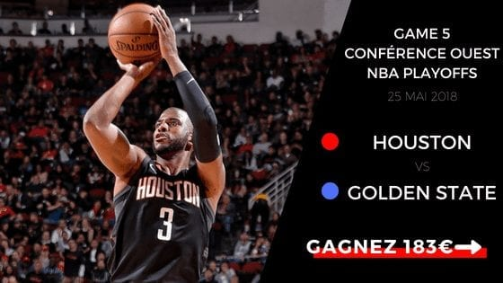 Pronostic du game 5 entre Houston Rockets et Golden State Warriors pour les playoffs nba