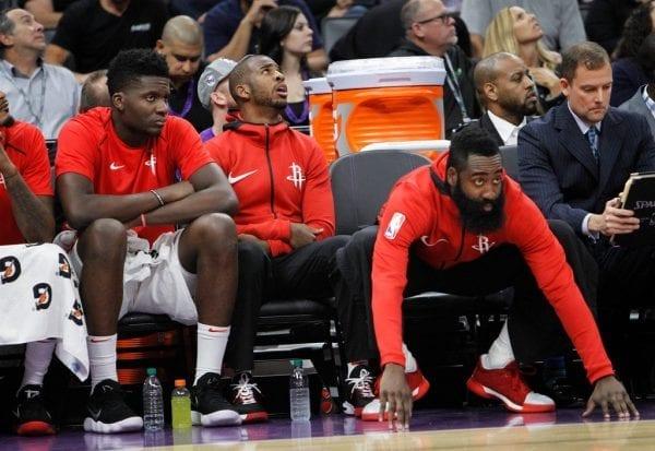 Le trio des Rockets Capela, Paul et Harden est prêt à en découdre face aux Warriors lors de ce game 1 de la finale de conférence ouest