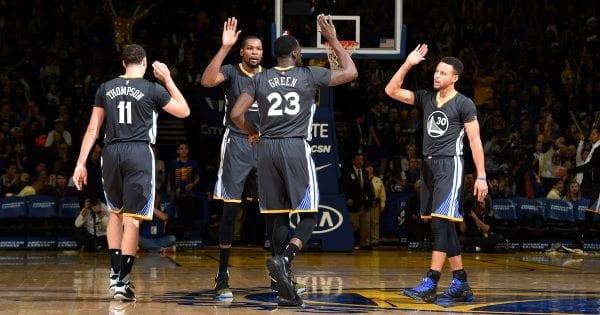 Le quatuor Thompson, Durant, Green et Curry est capable de s'imposer à Houston dans ce game1 en finale de conférence nba
