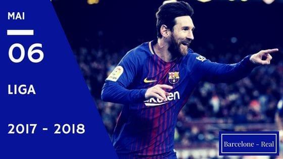 Pronostic Barcelone Real Madrid Liga 2017 - 2018