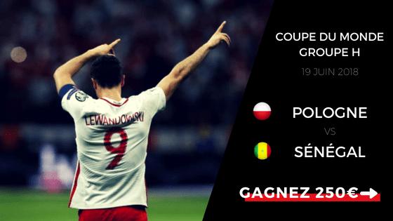 prono Pologne Sénégal coupe du monde groupe H