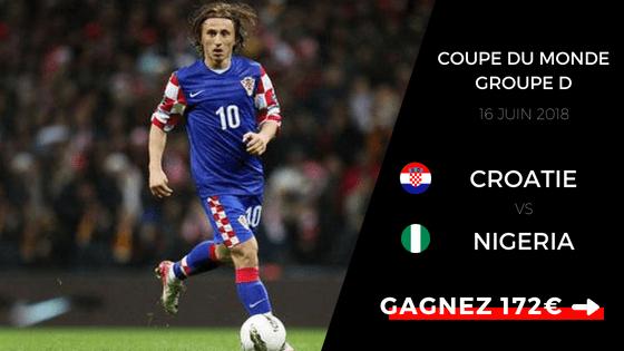 Pronostic Croatie - Nigeria
